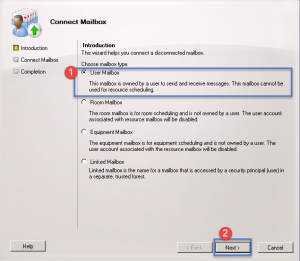 how to reconnect a mailbox in exchange 2010